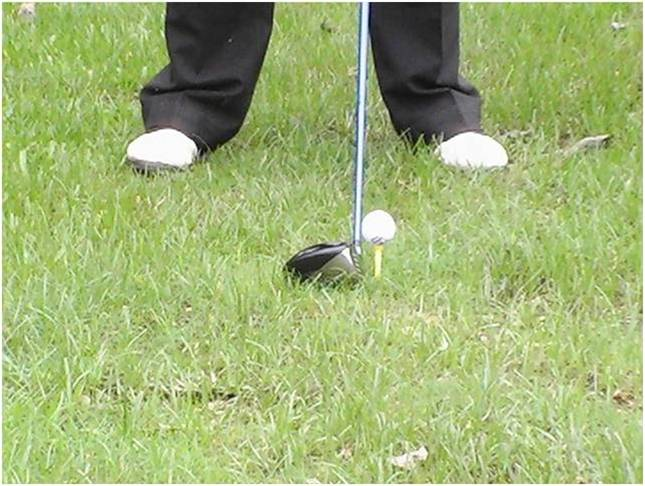 ball position with the driver,golf ball position
