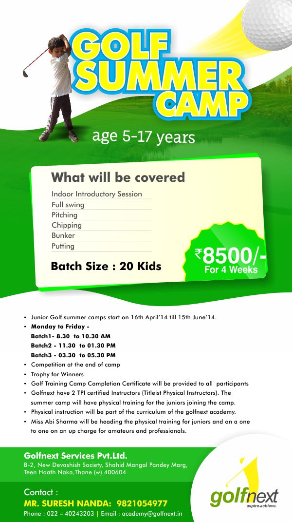 golfnext summer camp